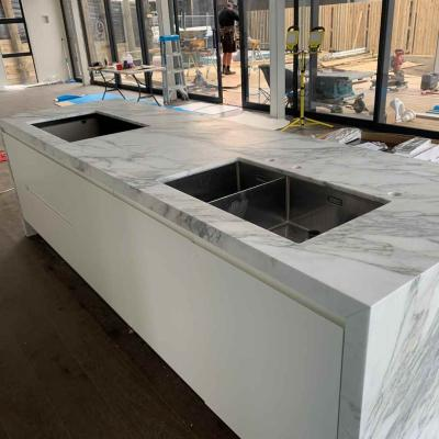 Natural Marble Benchtop With Waterleg