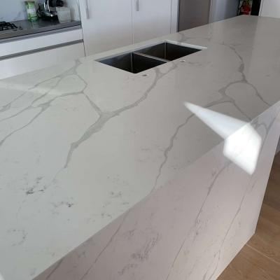 Marble Look Artificial Stone Kitchen