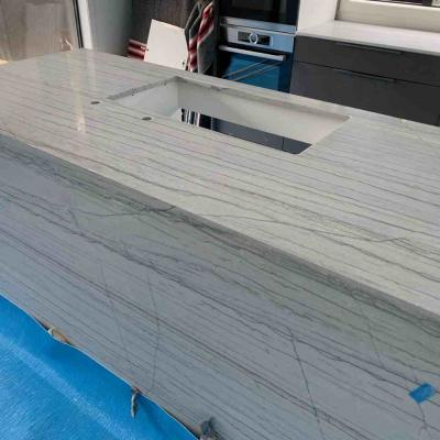 White Granite Kitchen Counter Top